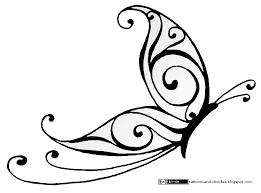 tattoos and doodles simple butterfly