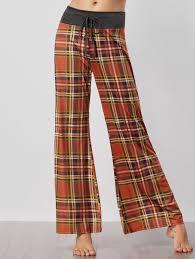 tartan vs plaid drawstring plaid palazzo pants jacinth style casual length