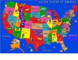 kids world fun learning usa cartoon map area rug u0026 reviews wayfair