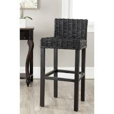 30 Inch Bar Stool Safavieh Home Collection Cypress Black Wicker 30 Inch