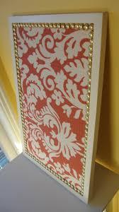 bulletin board can diy by framing a cork board using a stencil