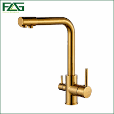 copper bathroom faucet flg 100 copper gold finished swivel drinking water faucet 3 way