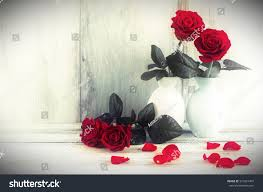 Vintage Rose Home Decor by Home Decor Red Rose Flowers Vase Stock Photo 551921497 Shutterstock