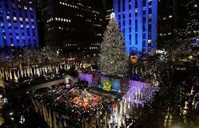 rockefeller center christmas tree lighting launches holiday season