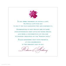 wedding registration list sle wording for wedding gift registry imbusy for
