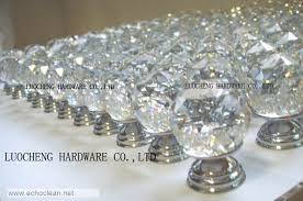 Crystal Cabinet Hardware 40pcs Lot 30mm Cut Clear Crystal Cabinet Knobs On A Chrome Brass