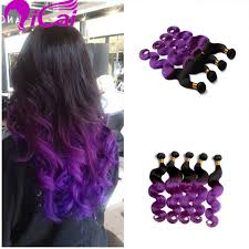 purple hair extensions ombre 2 tone 1b purple hair weaves remy human