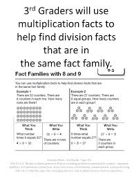 multiplications for 3rd graders students use models and multiplication facts to help find