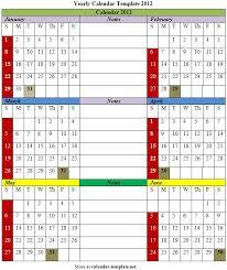 yearly calendar template 2012 calendar template