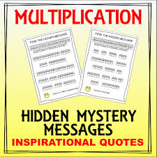 free u2013 multiplication mystery hidden message worksheets u2013 math