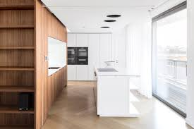 berlin penthouse kitchen white built in cabinet drawer