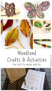 woodland crafts u0026 activities for kids nature crafts activities
