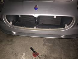 maserati grill fender bender into an suv tow hitch damaged grille frame ok