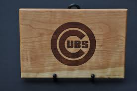 cutting board engraved cubs laser engraved cutting board markann woodcrafts