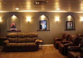Home Theatre Wall Decor Diy Basement Home Theater Ideas