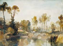 house beside the river with trees and sheep u0027 joseph mallord