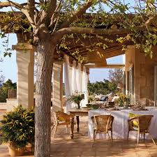 Spanish Home Interiors Classic Patio Ideas In Mediterranean Style