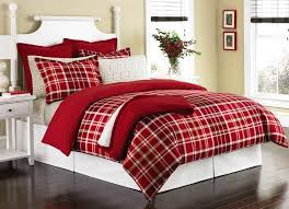 Red Duvet Set Red Plaid Duvet Cover Home Design Ideas