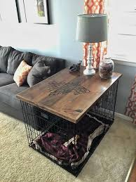 cool diy end table dog crate and ana white large wood pet kennel