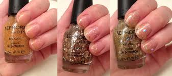 the beauty of life sephora by opi gold top coat swatches