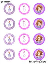 Sofia The First 2 Inch Cupcake Toppers Information No Items