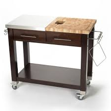 stainless steel kitchen island with butcher block top chris chris chef pro workstation stainless steel butcher