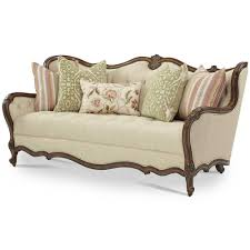 Aico Furniture Clearance Aico Lavelle Melange Wood Trim Tufted Sofa Ai 54815 Bisqu 34