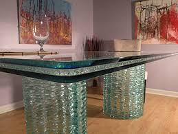 Dining Room Table Tops Clear Crackle Glass Table Tops And Captivating Dining Chair