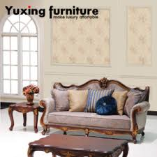 Wooden Frame Sofa Set China Classical Fabric Sofa Set With Antique Wood Frame For Home