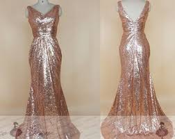 Rose Gold Dress Etsy