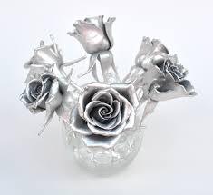 silver flowers aluminum flowers