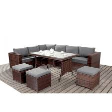 Outdoor Rattan Corner Sofa Port Royal Prestige Table Corner Sofa Set Rattan Furniture