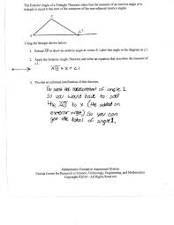 pictures of worksheet triangle sum and exterior angle theorem