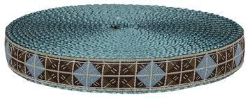 4 inch ribbon buy 3 4 inch blue brown diamond ribbon on blue webbing
