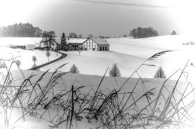 free images landscape snow black and white farm weather