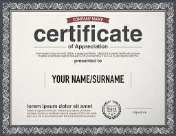 modern layout vector certificate template u2014 stock vector
