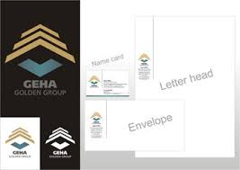 design gehã use gallery logo stationery designs pt geha golden