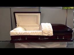 overnight caskets mahogany solid wood with velvet interior casket