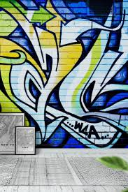 the 26 best images about graffiti wall murals on pinterest blue green graffiti wall mural wallpaper