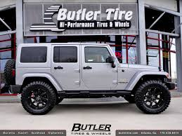 jeep wheels black jeep wrangler with 20in black rhino glamis wheels a photo on
