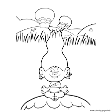 dj suki poppy trolls coloring pages printable