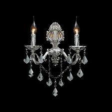 Two Light Wall Sconce Decorative Two Light Wall Sconce Features Delicate Silver