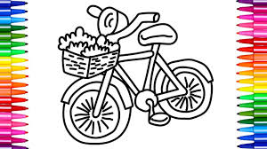 coloring pages for kids bike for girls creative coloring books