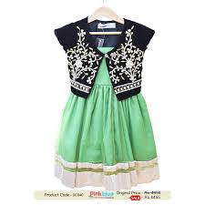 designer pistachio green wedding frock with black gota pati jacket