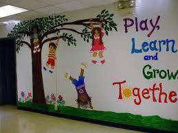 How To Decorate Nursery Classroom Wall Decor Class Wall Decoration Ideas Wall Decor School