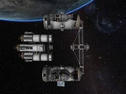 Ksp Delta V Map Fuel Station With Truss Frame Kerbal Space Program Pinterest