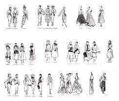 croquis mode 1947 fashion clothing and jewelry coloring pages