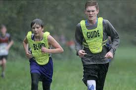 Evan Davis Blind Never Slowing Down Blind Eighth Grader Competes In Cross Country