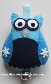 felt kawaii owl ornament decoration bauble felt owl