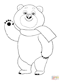the polar bear winter olympic 2014 mascot coloring page free